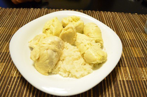 Sticky rice with Durian