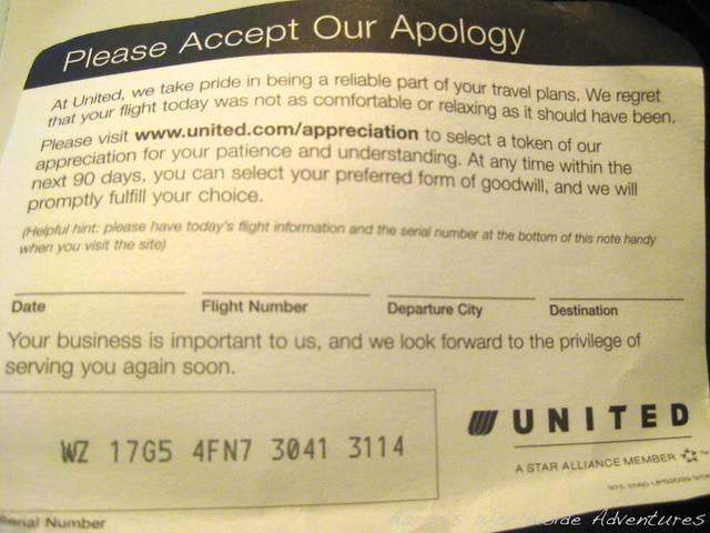 United Apology Card