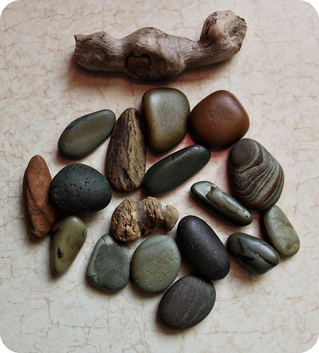 river stones by littlehippiegirl