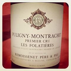Puligny-Montrachet Les Folatieres 2001, Remoissenet