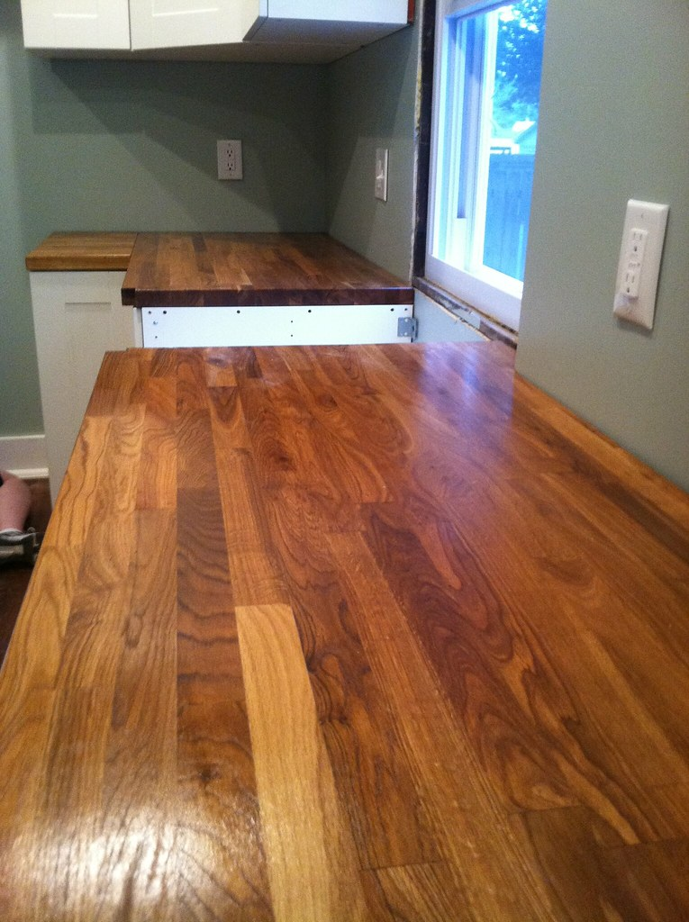 A Review Ikea Butcher Block Countertops And Waterlox Finish Newlywoodwards