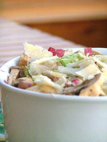 brown bean & mushroomsalad - insalata di fagioli e funghi