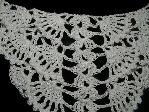 start of fan shawl