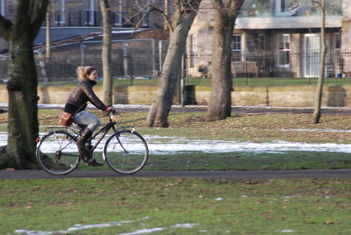 Cyclist in winter