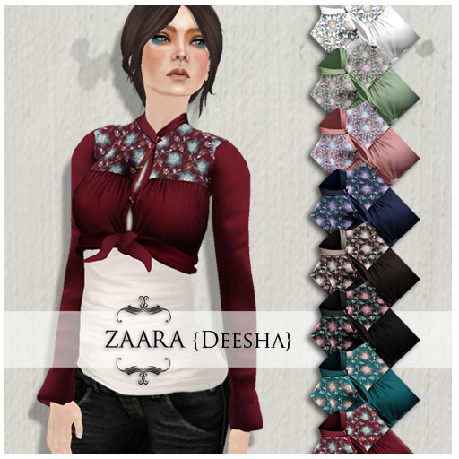 {Zaara} Deesha cropped tops