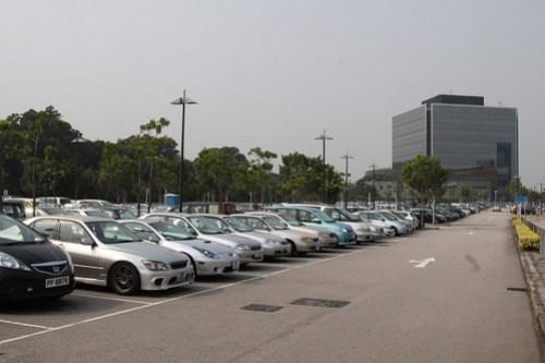 Railway station carpark at Kam Sheung Road station
