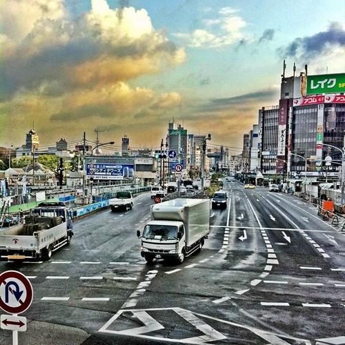 朝の風景。 (^o^)ノ < おはよー! 今日も笑顔でがんばろ~! #Osaka #morning