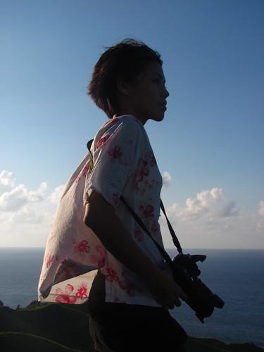The photographer, Rolling Hills, Batan Island, Batanes