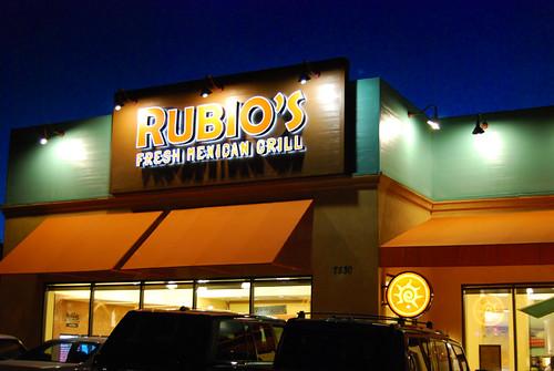 Rubios night exterior