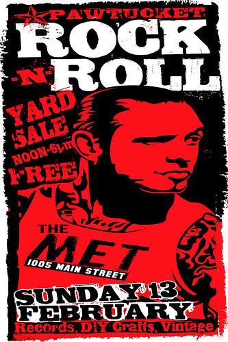 Feb 13th 2011 Pawtucket Rock And Roll Yard Sale Poster by Uncle