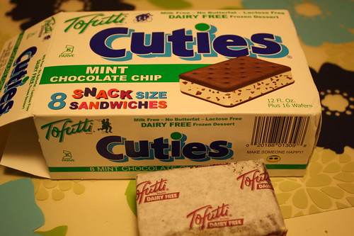 Tofutti cuties mint chocolate chip