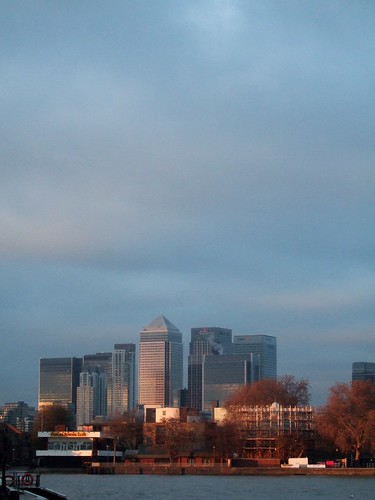 Sunset Over Canary Warf
