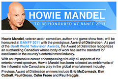 Howie Mandel to be honoured at Banff 2011