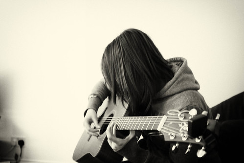 pretty girl with guitar