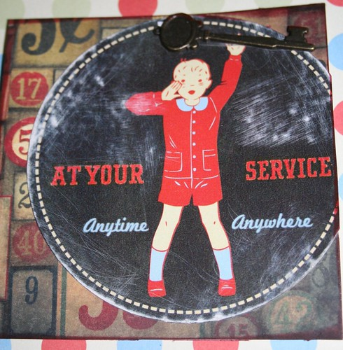 "At Your Service 4"" x 4"" Collage Card"