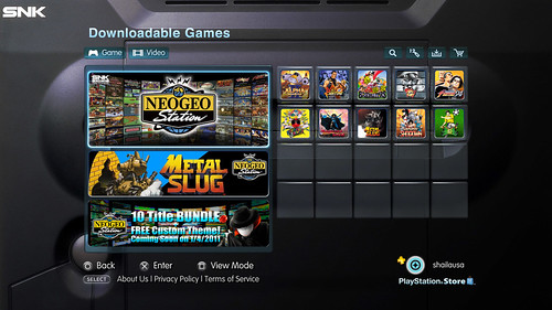 PlayStation Store - SNK Category