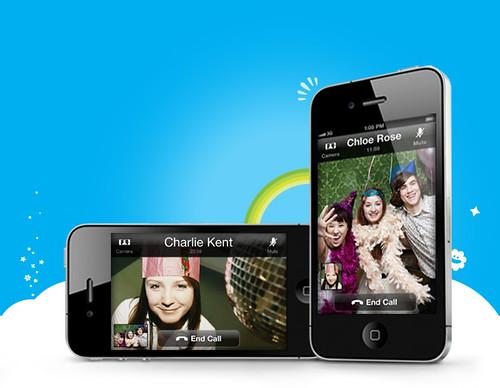 Skype video call iphone