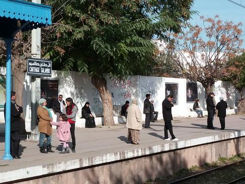 Gare Carthage Salammbô du TGM (Tunis-Goulette-Marsa)