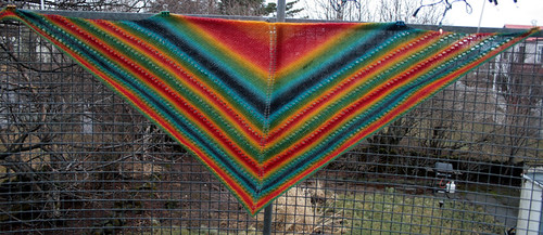 She's a Rainbow - shawl