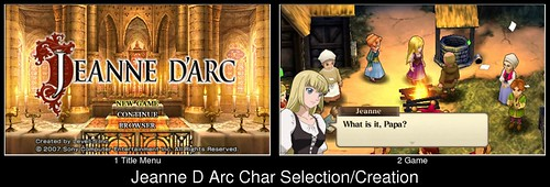 Character Creation in Jeanne D Arc (spoiler: there is none)