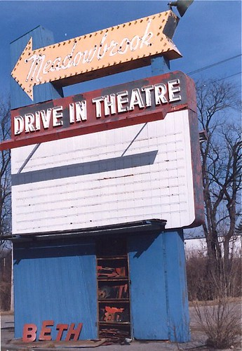 Meadowbrook Drive In Theatre Sign, MA