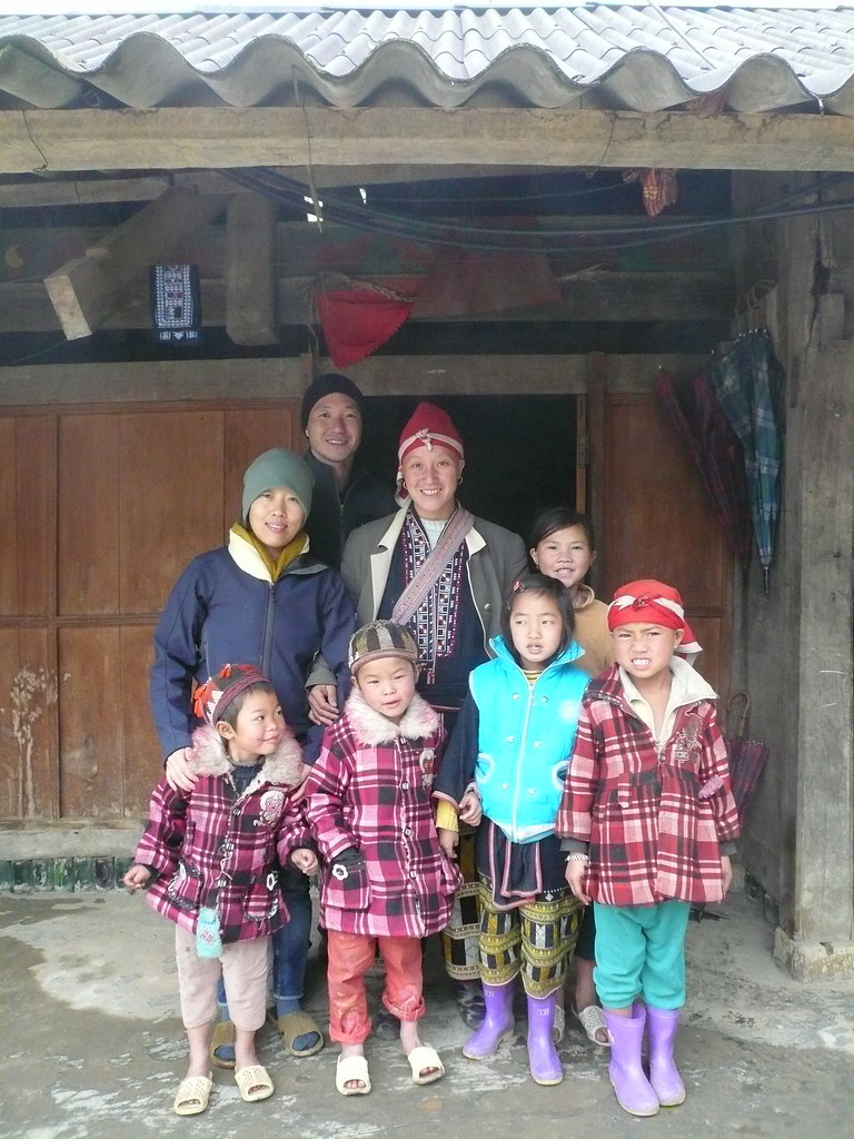 family we stayed with in Taphin