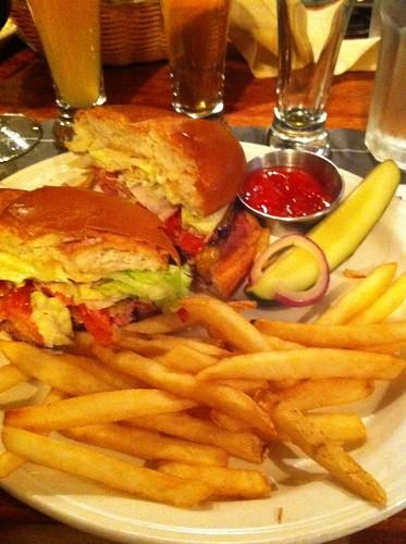 LGBC Burger @ Los Gatos Brewing Co