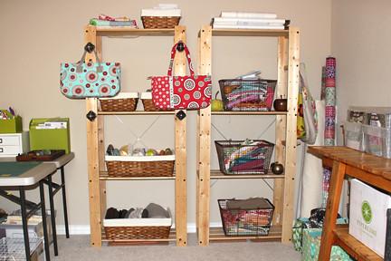 studio - shelves