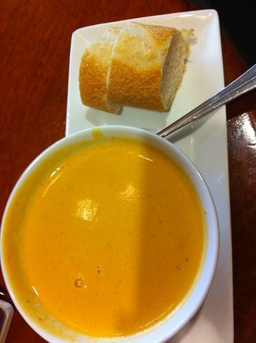 Roasted Red Pepper Soup @ Cafe La Tartine