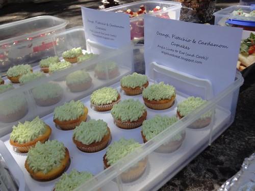 Angie's orange, pistachio & cardamom cupcakes