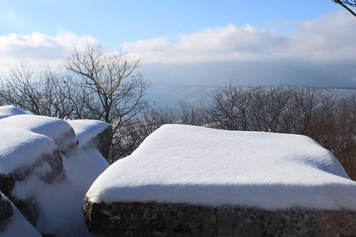 Kelly's Knob - Snow Covered Rocks and Ridges