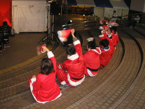 Swing those santa hats!
