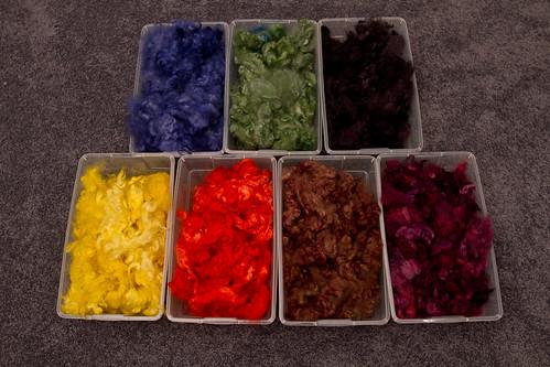 Dyed Romney fleece