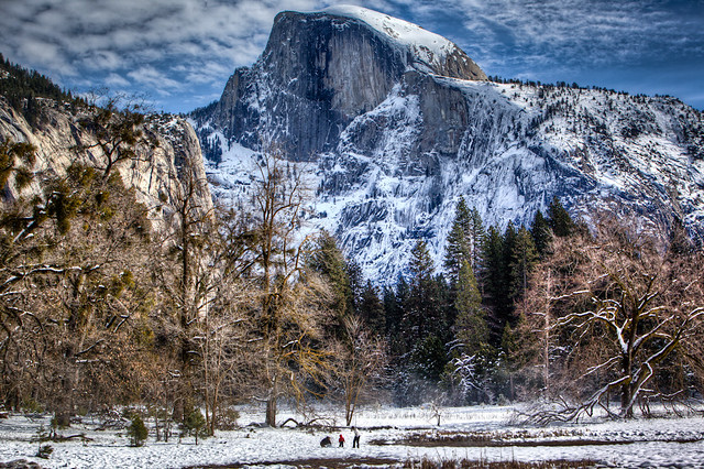 Half Dome with Family from Cook's Meadow - Yosemite - Version 3 - Single Image HDR by Scott Loftesness