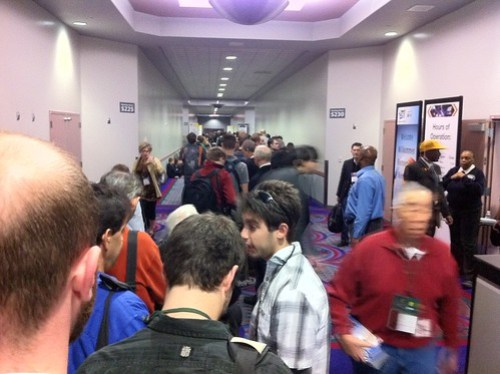 CES 2011 Lunch line
