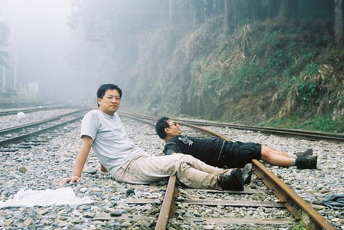 阿里山森林火車鐵軌旁2