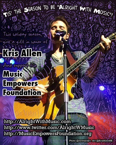 Kris Allen Promo Art - Alright With Music Fundraising Campaign to benefit Music Empowers Foundation