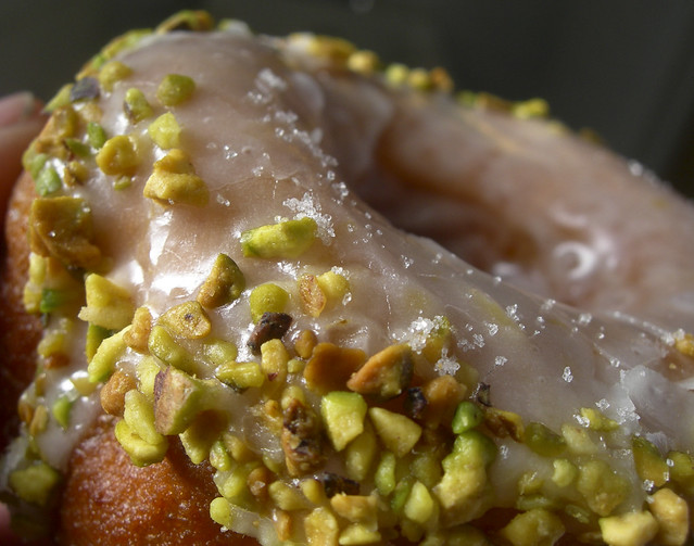 the lemon/pistachio doughnut @ Dynamo Donuts, San Francisco