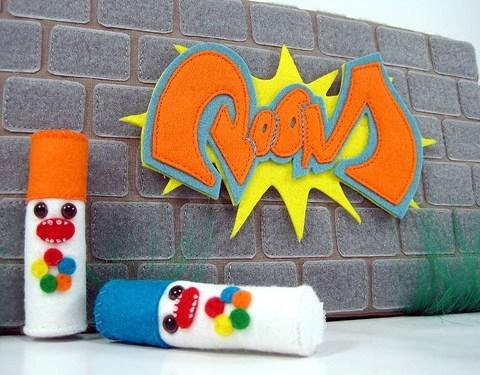 plush graffiti wall