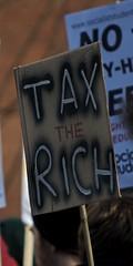 Tax the Rich placard