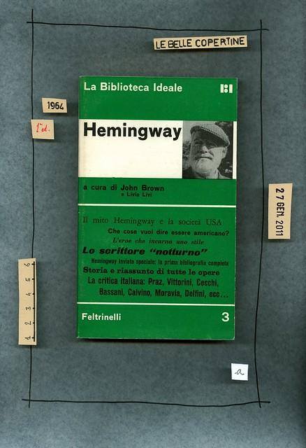 John Brown e Livia Livi, Hemingway, Feltrinelli 1964. Copertina.