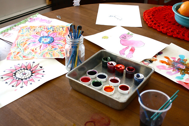 food coloring as paint
