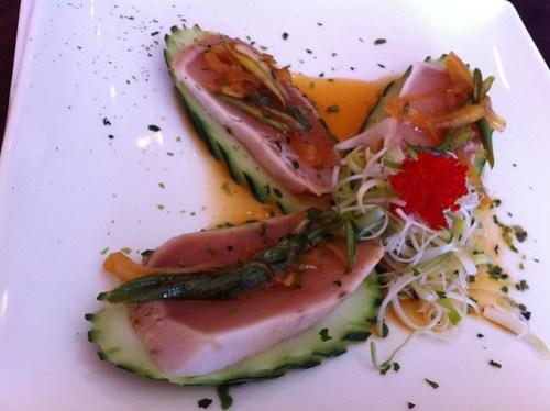 Kai Sushi White Tuna appetizer
