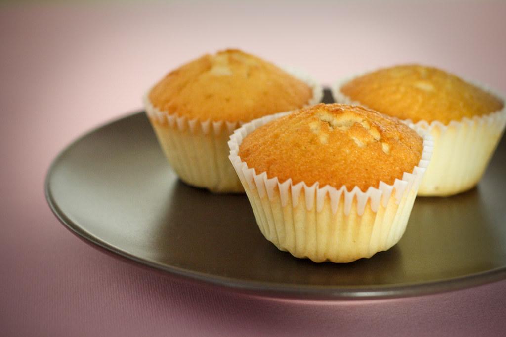 Receta de cupcake de vainilla que por falta de tiempo se quedaron en magdalenas o muffins