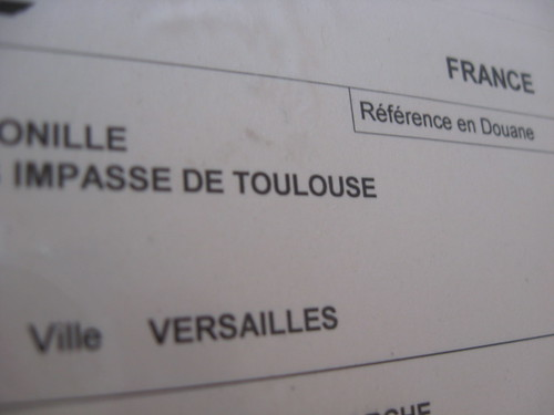 a package from Versailles