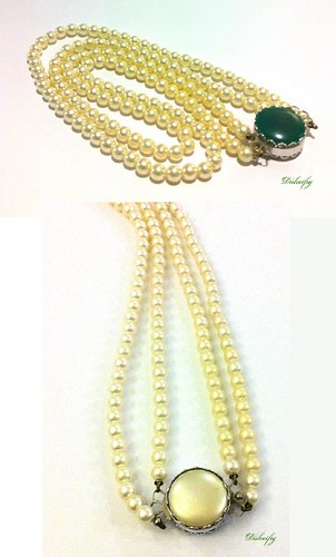 Necklace Sarah Coventry Faux Pearls Reversible