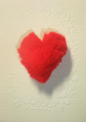 pompom heart