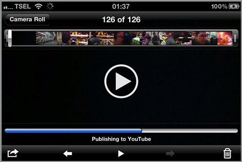 Langsung upload ke Youtube dari iPhone