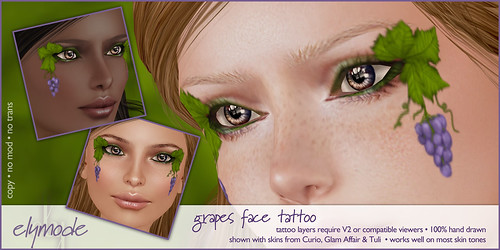 *elymode* grape face tattoo
