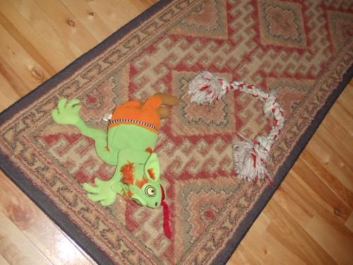 Schnitzel toy still life